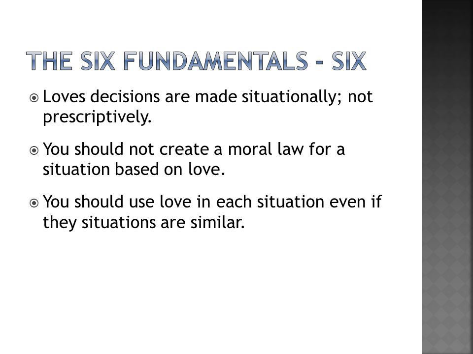 the Six fundamentals - six