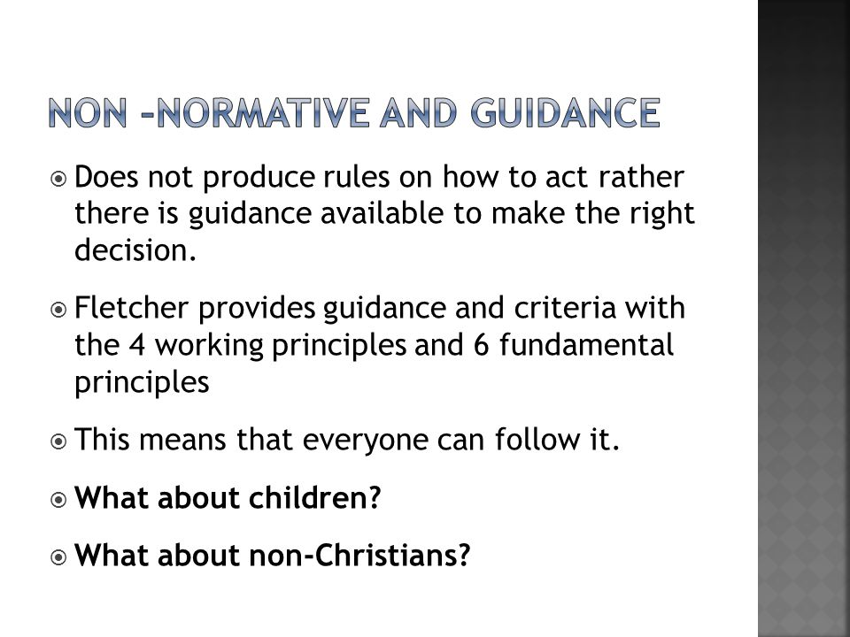Non –normative and guidance