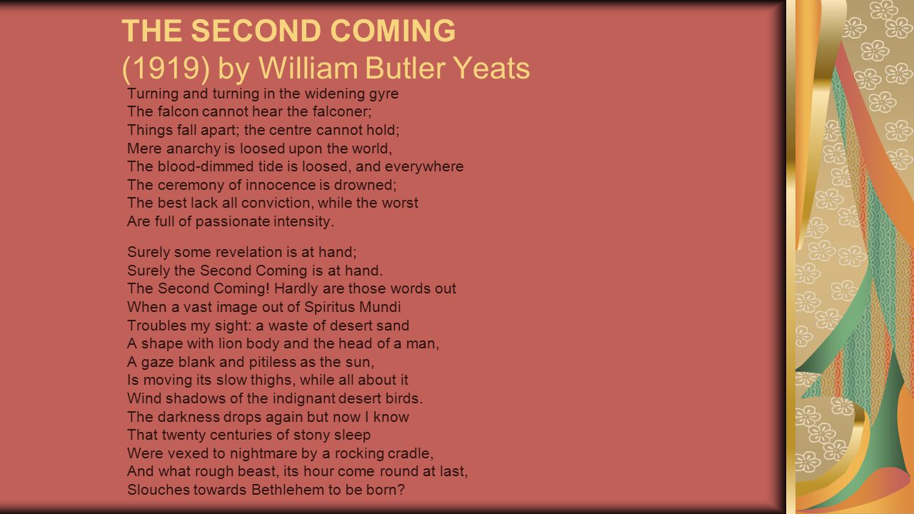 THE SECOND COMING (1919) by William Butler Yeats