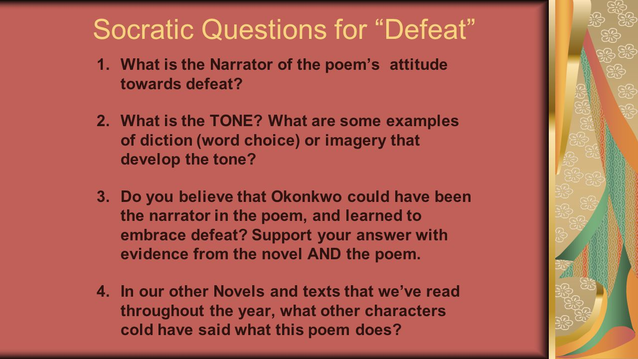 Socratic Questions for Defeat