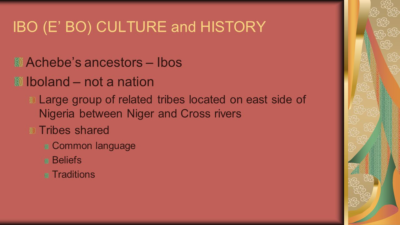 IBO (E' BO) CULTURE and HISTORY