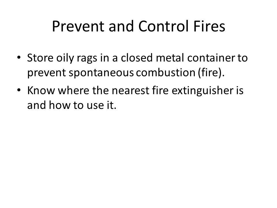Prevent and Control Fires