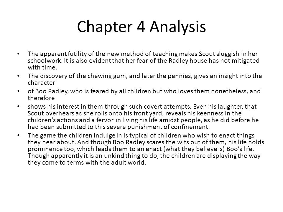 Chapter 4 Analysis