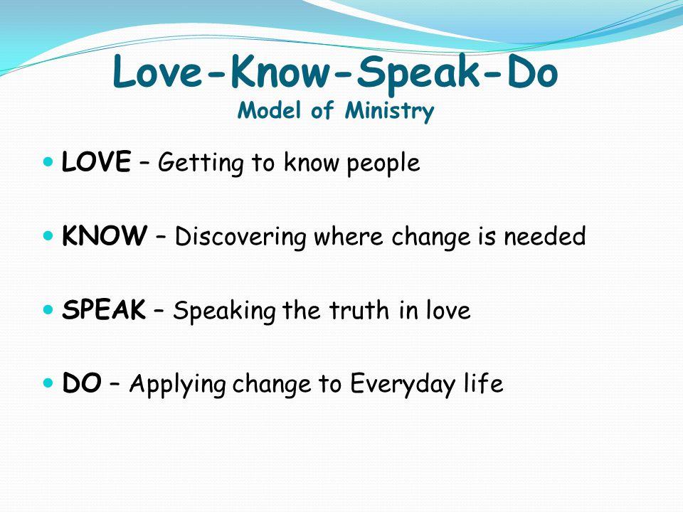 Love-Know-Speak-Do Model of Ministry