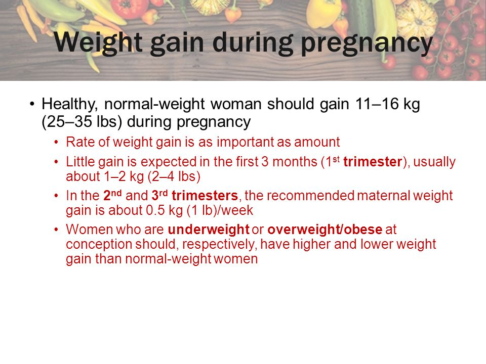 Weight gain during pregnancy