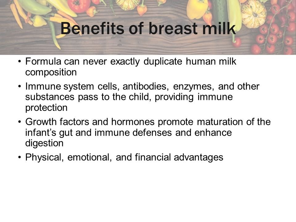 Benefits of breast milk