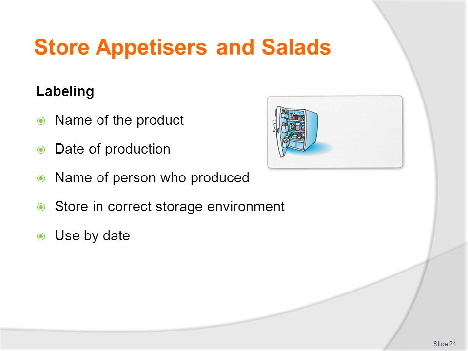 Store Appetisers and Salads