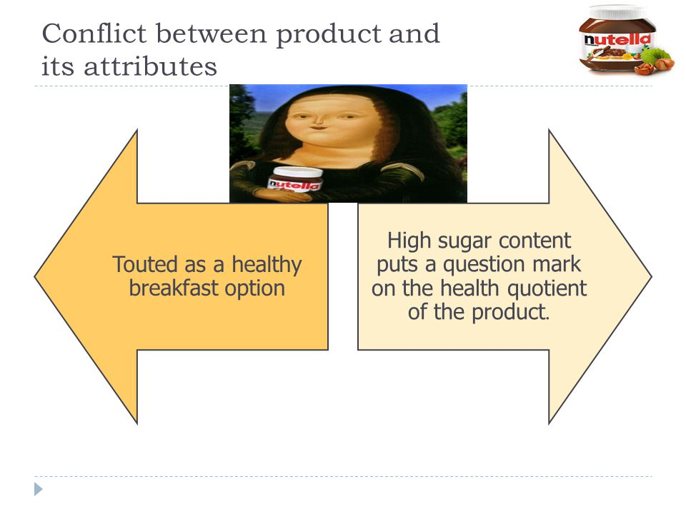 Conflict between product and its attributes