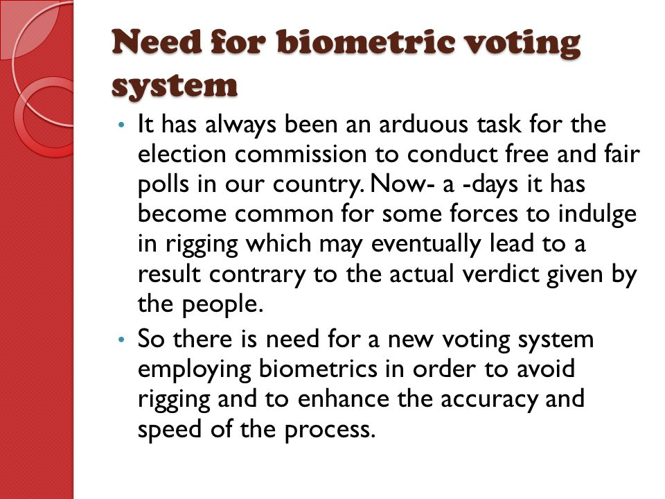 Need for biometric voting system