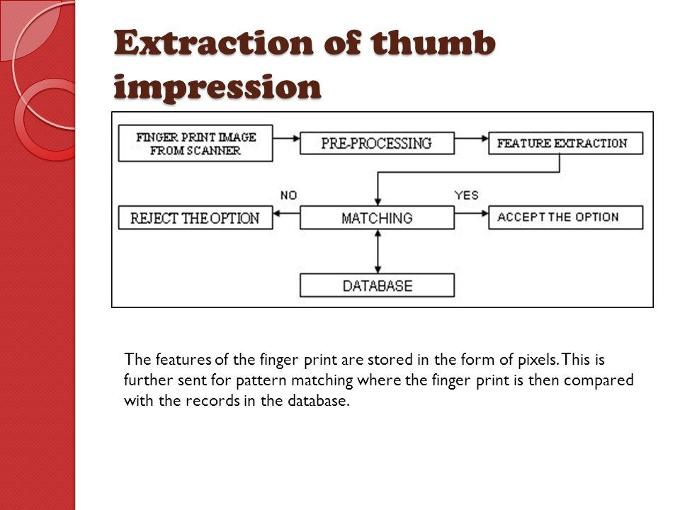 Extraction of thumb impression