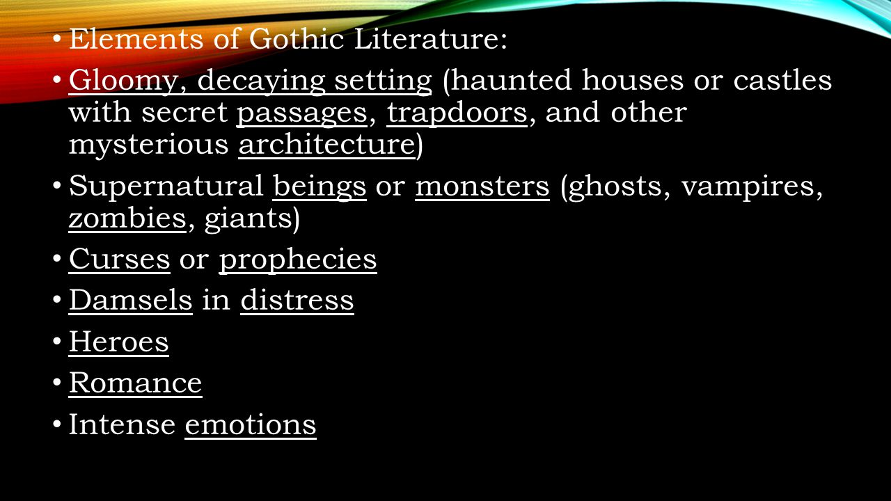 gothic elements in frankenstein and christabel