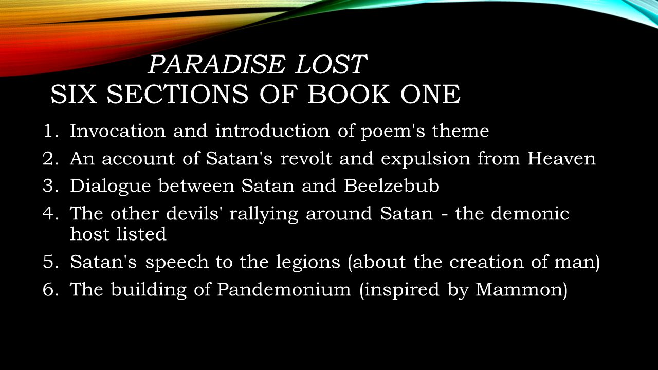 paradise lost essay topics