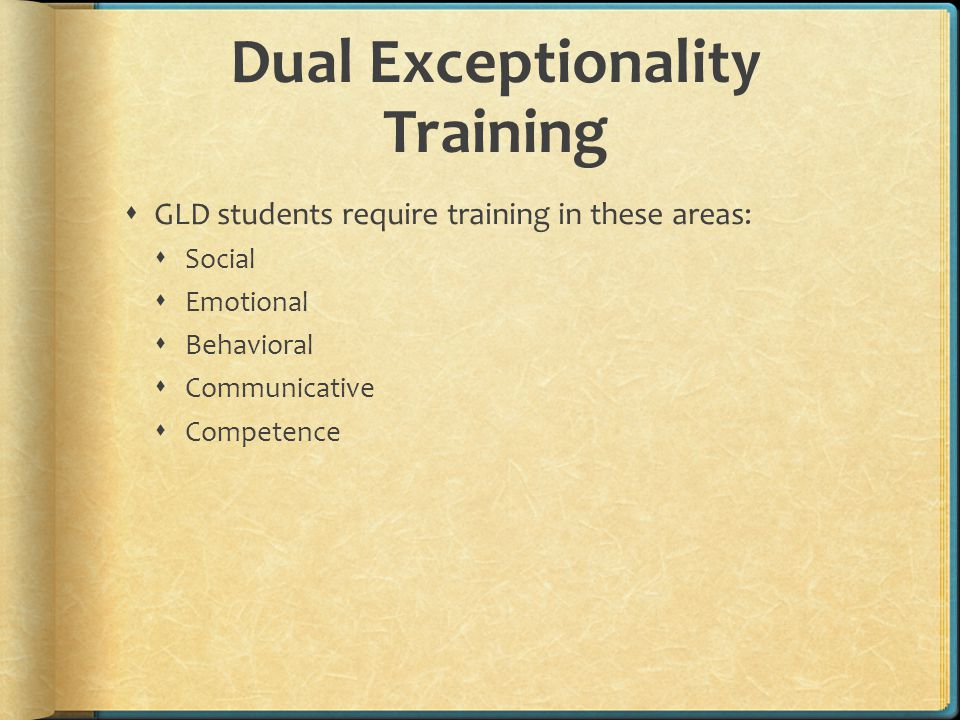 Dual Exceptionality Training