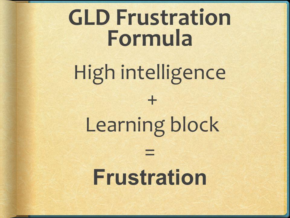 GLD Frustration Formula