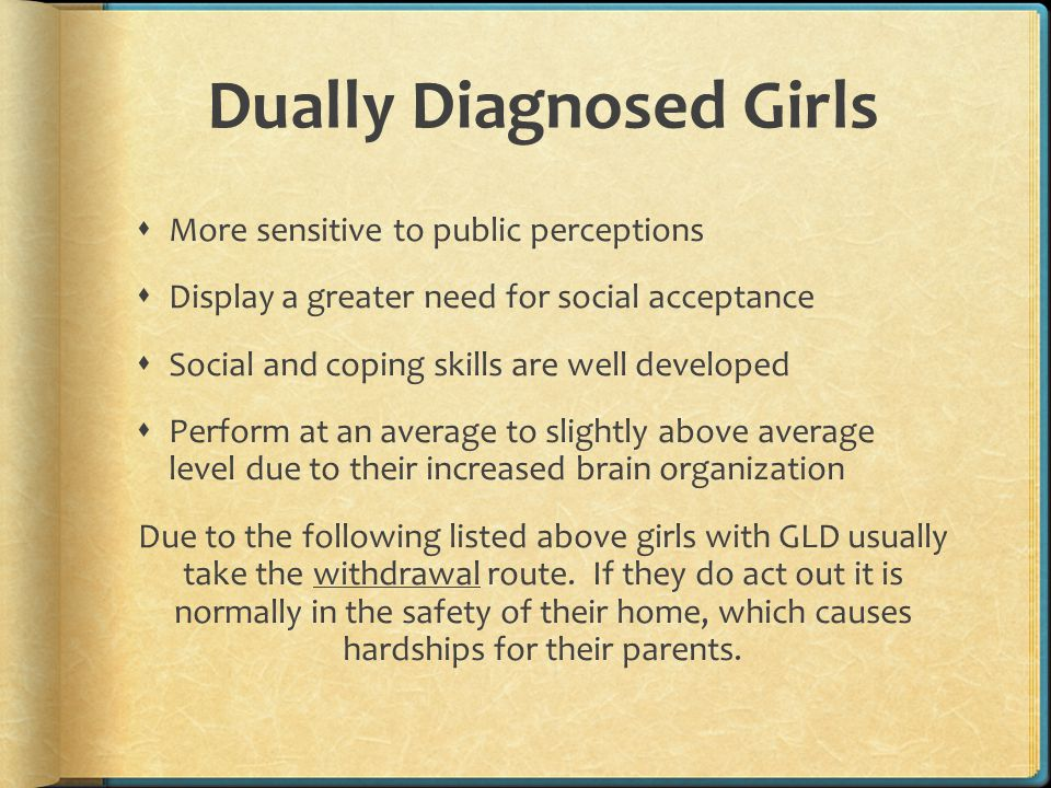 Dually Diagnosed Girls