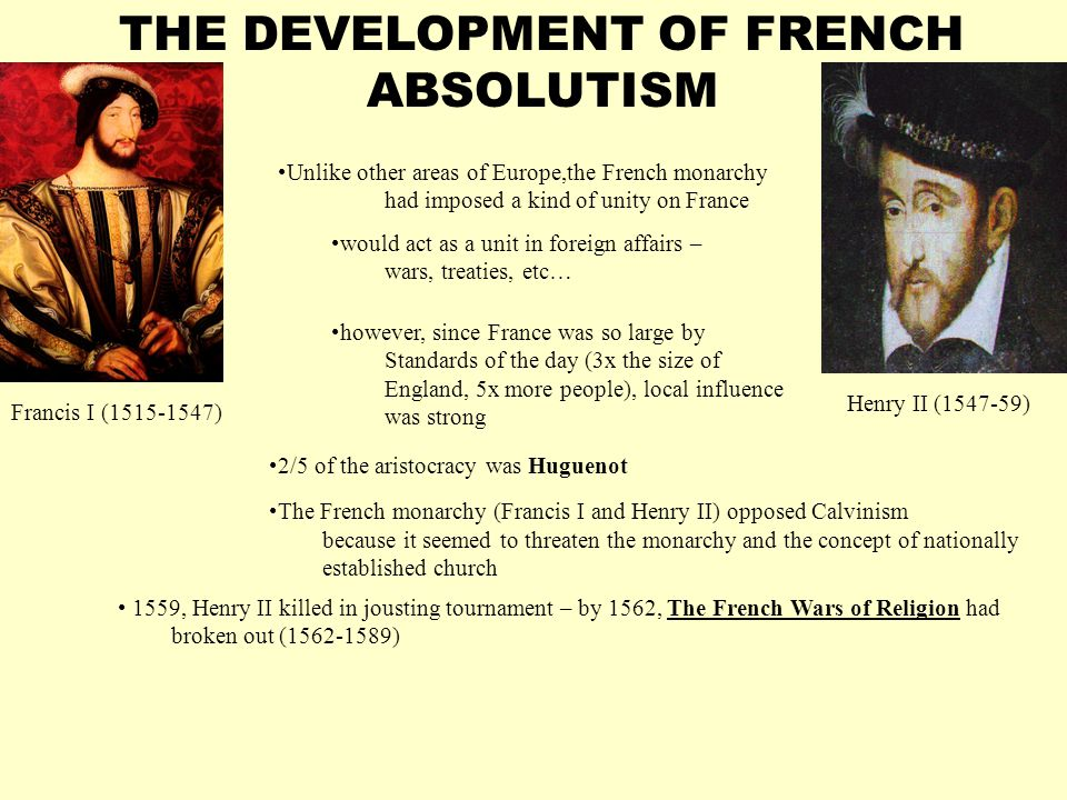 THE DEVELOPMENT OF FRENCH