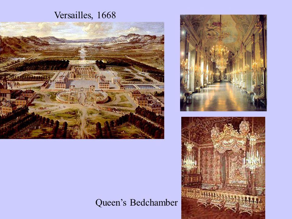 Hall of Mirrors Versailles, 1668 Queen's Bedchamber