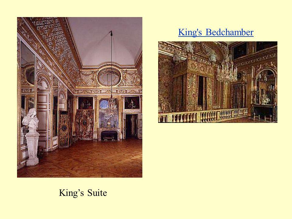 King s Bedchamber King's Suite.