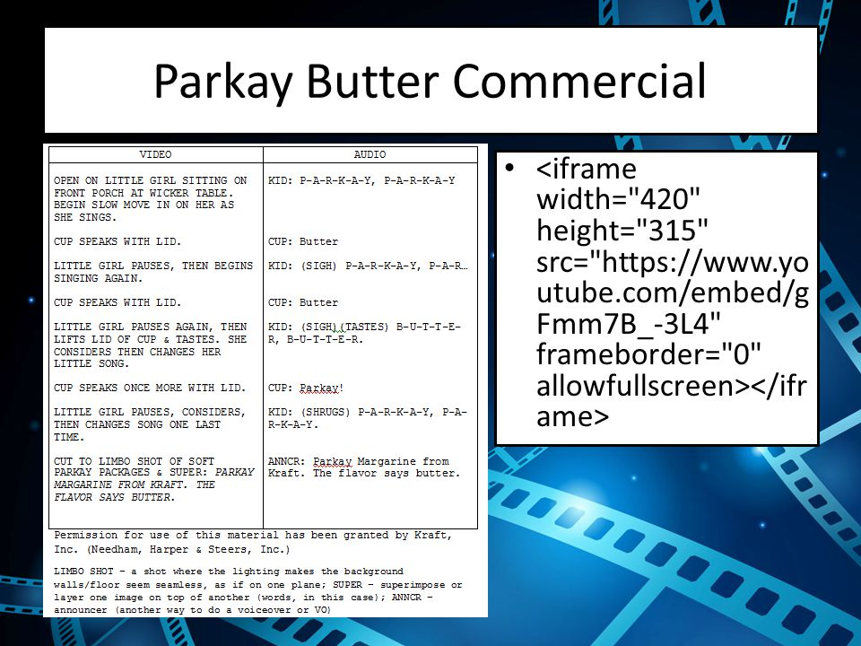 Parkay Butter Commercial
