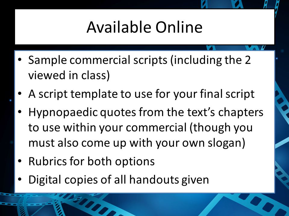 how to write a radio commercial script template