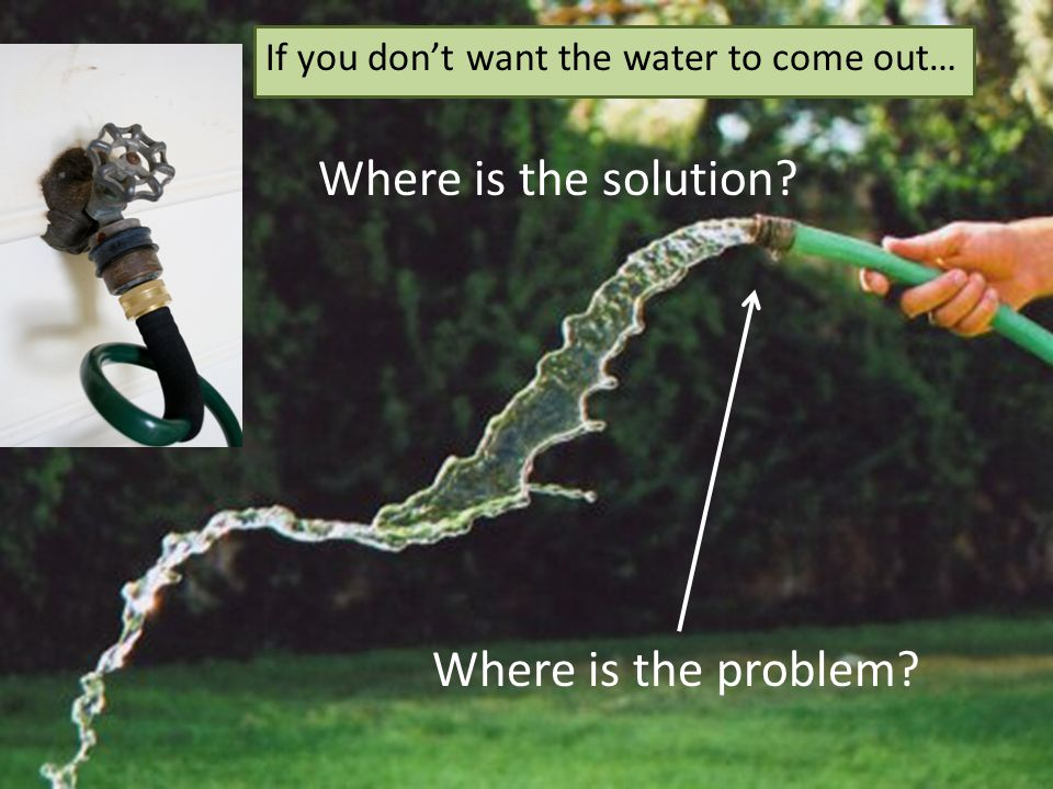 Where is the solution Where is the problem