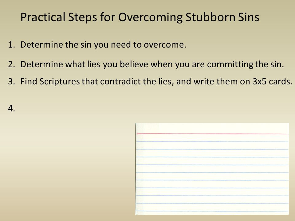 Practical Steps for Overcoming Stubborn Sins