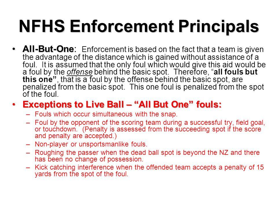 NFHS Enforcement Principals