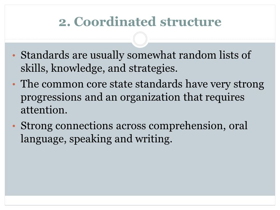 2. Coordinated structure