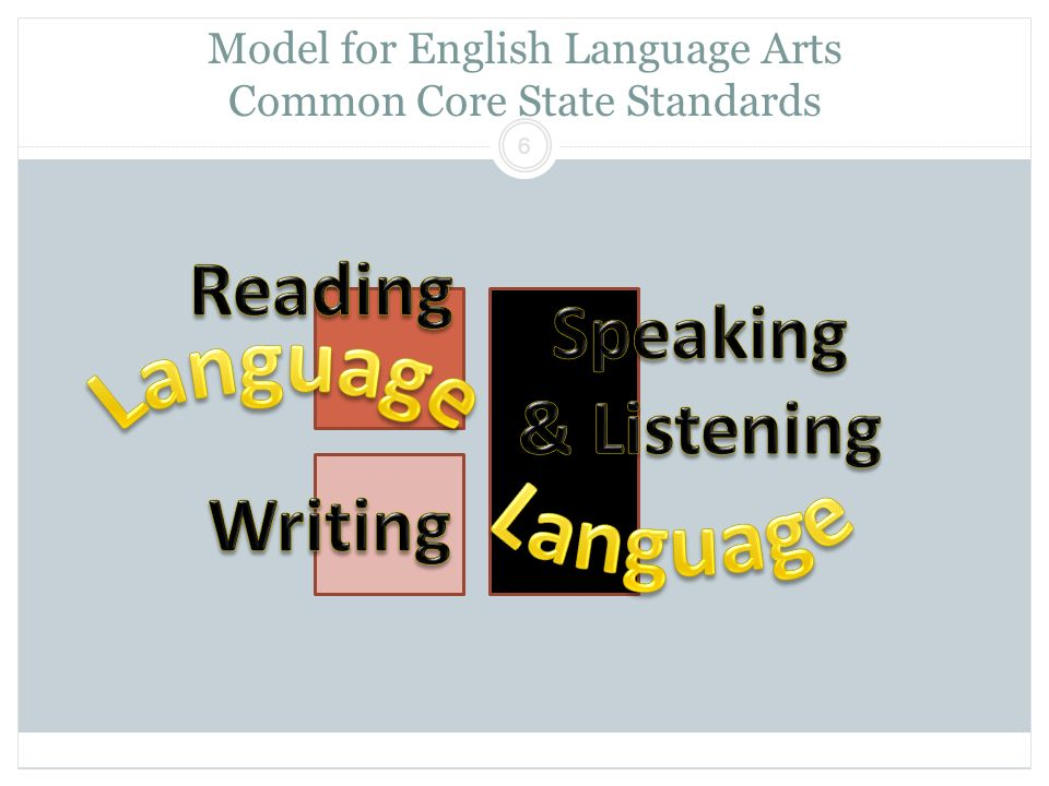 Model for English Language Arts Common Core State Standards