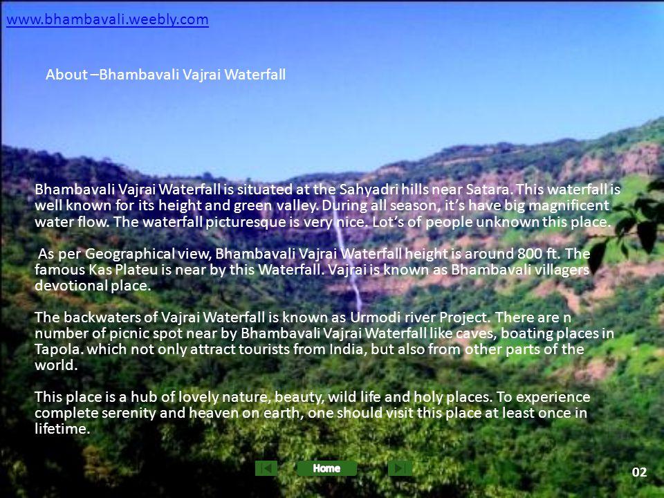 About –Bhambavali Vajrai Waterfall