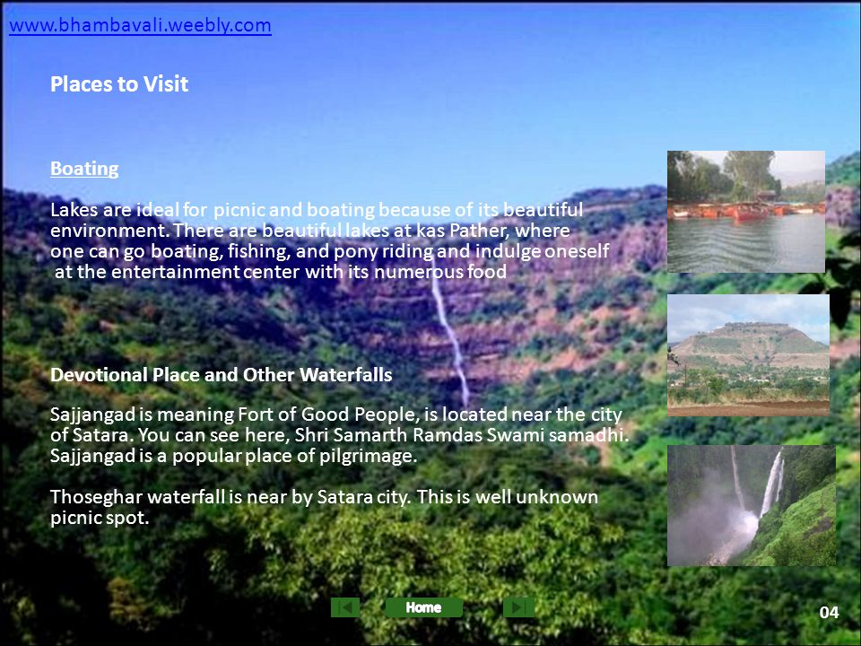 Places to Visit www.bhambavali.weebly.com Boating