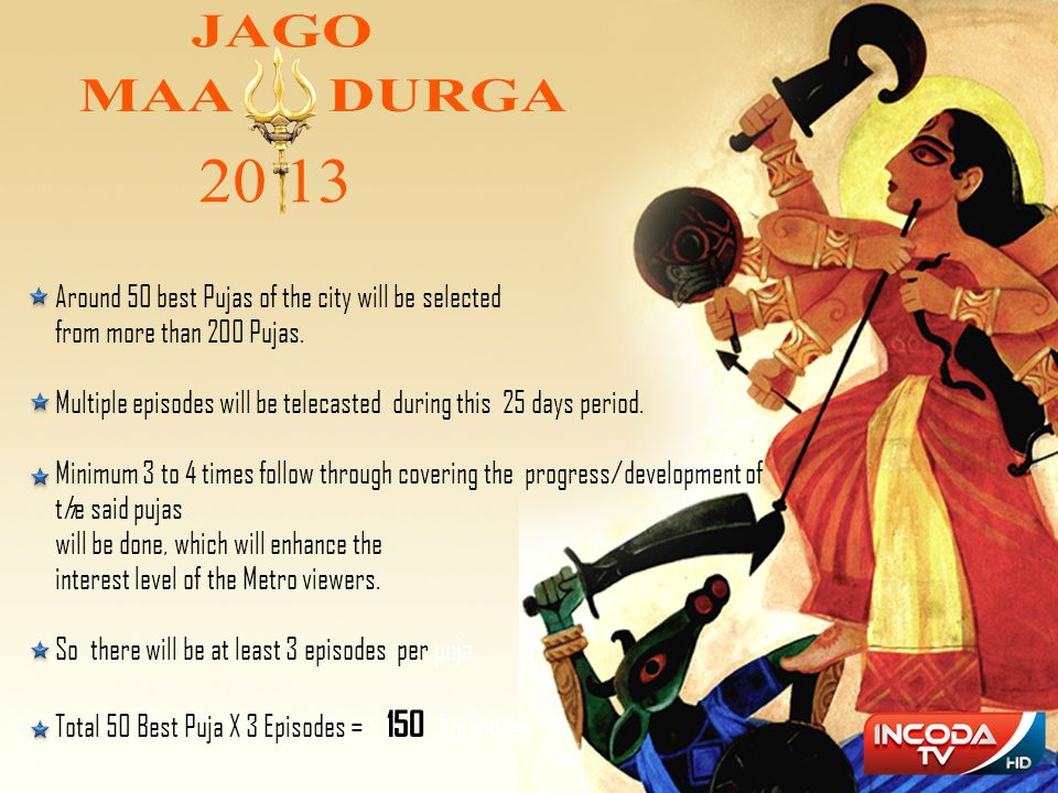 Around 50 best Pujas of the city will be selected
