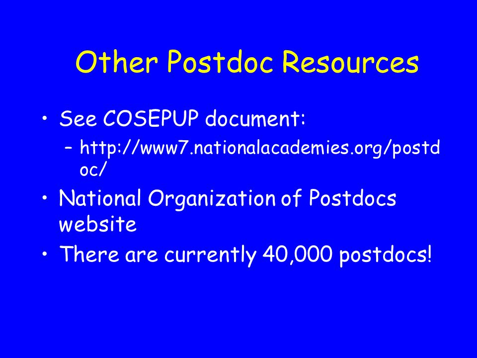 Other Postdoc Resources