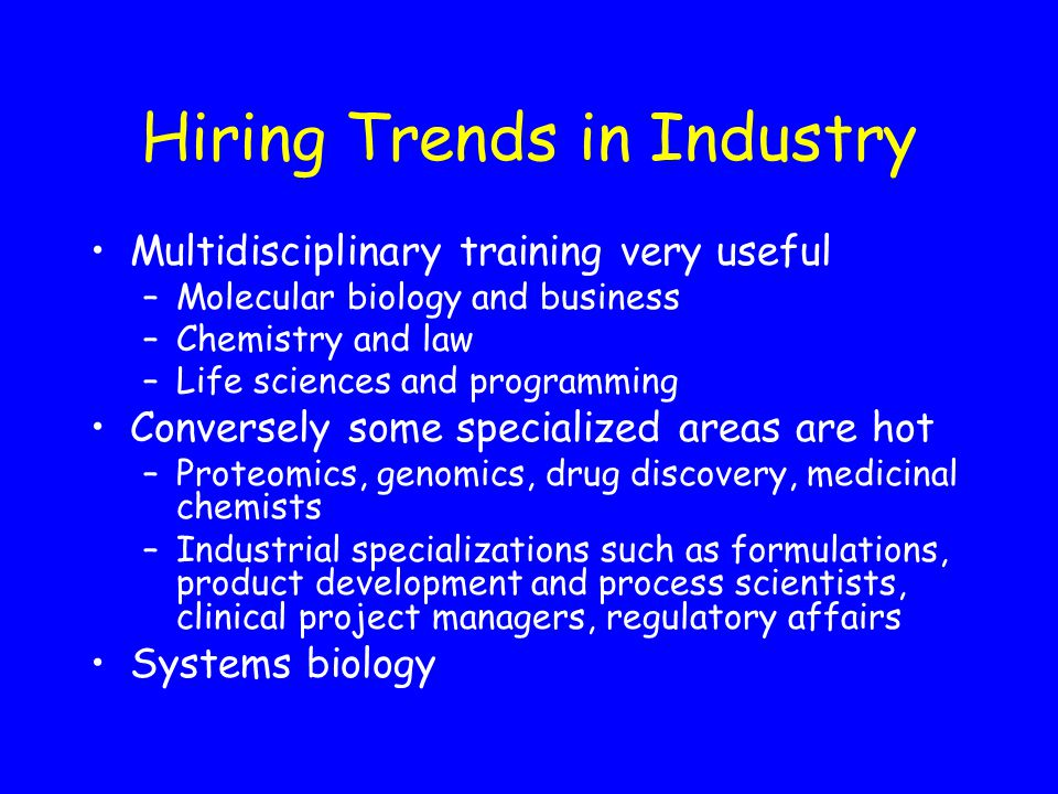 Hiring Trends in Industry