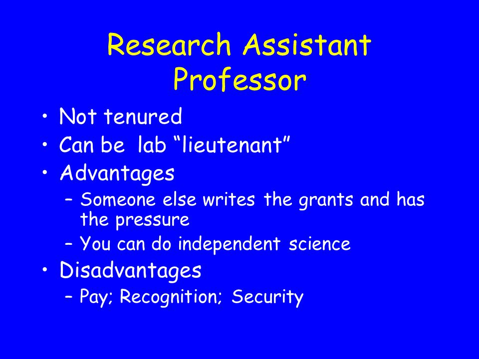 Research Assistant Professor