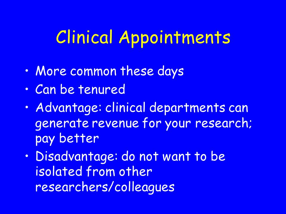 Clinical Appointments