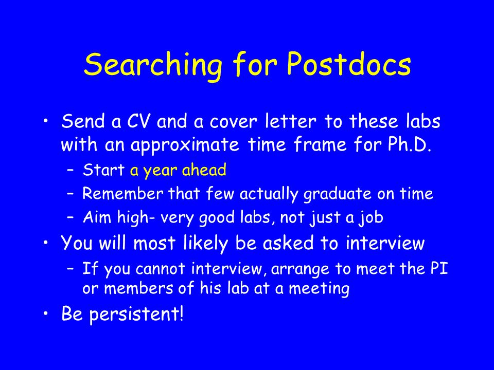 Searching for Postdocs