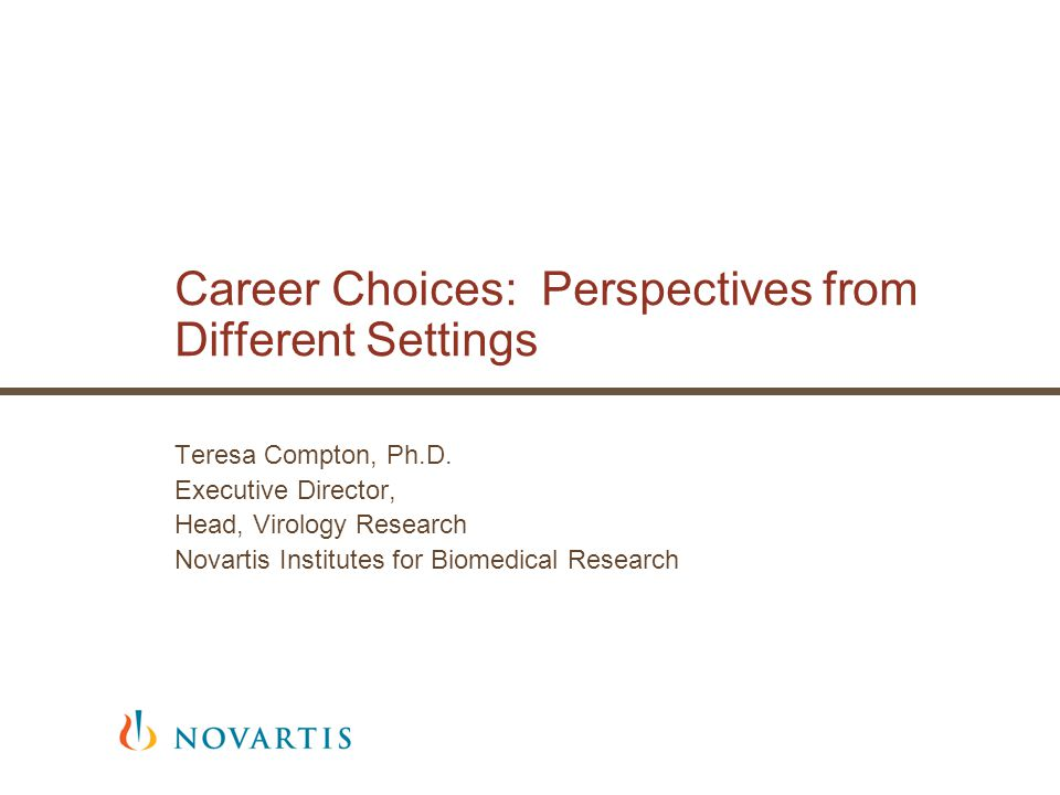 Career Choices: Perspectives from Different Settings