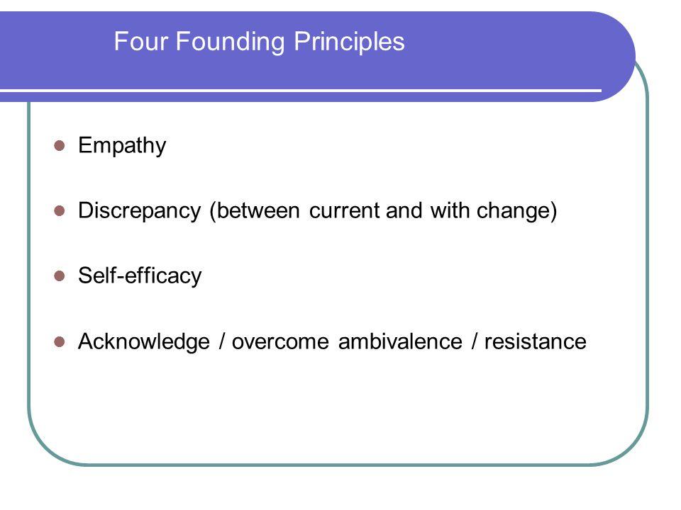 Four Founding Principles