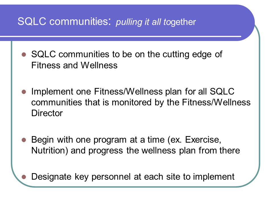 SQLC communities: pulling it all together