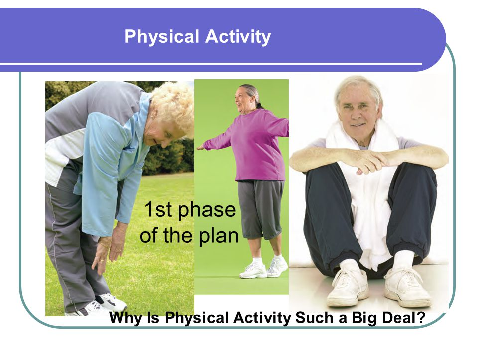 1st phase of the plan Physical Activity