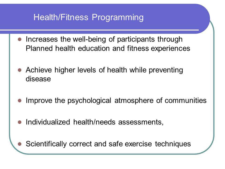 Health/Fitness Programming