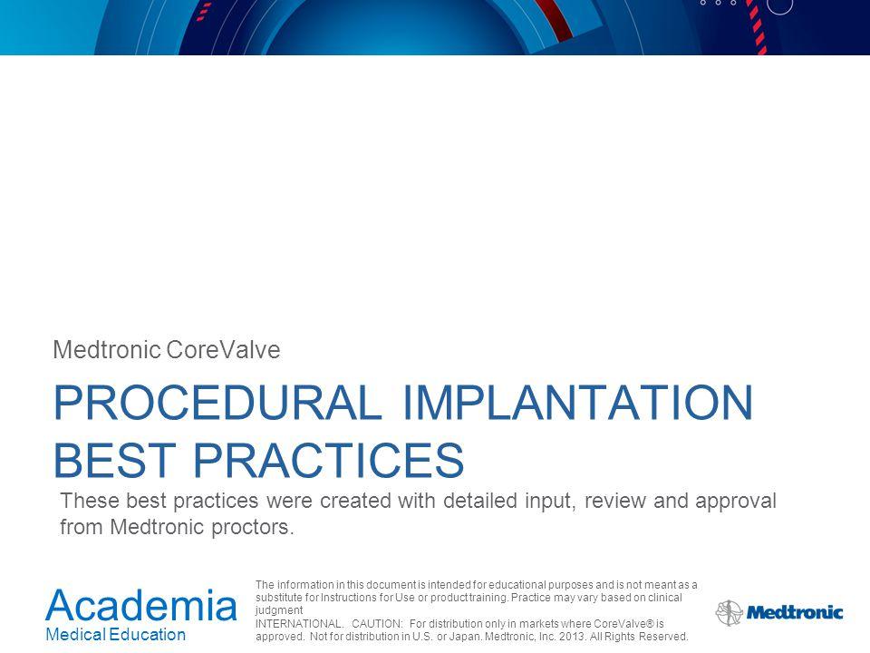 Procedural Implantation Best Practices