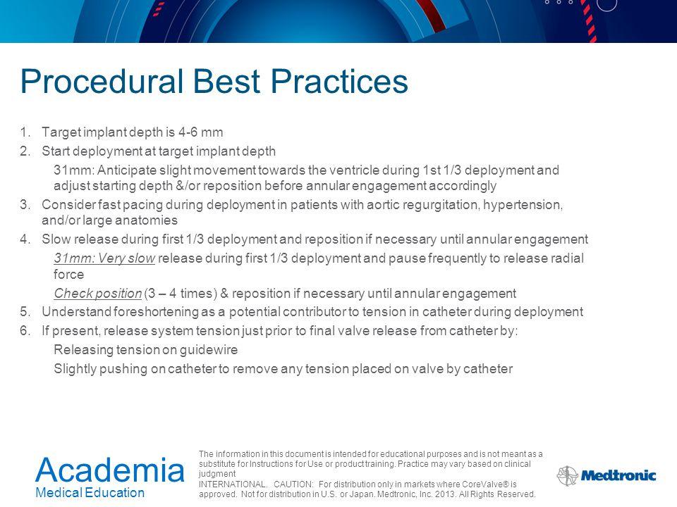 Procedural Best Practices