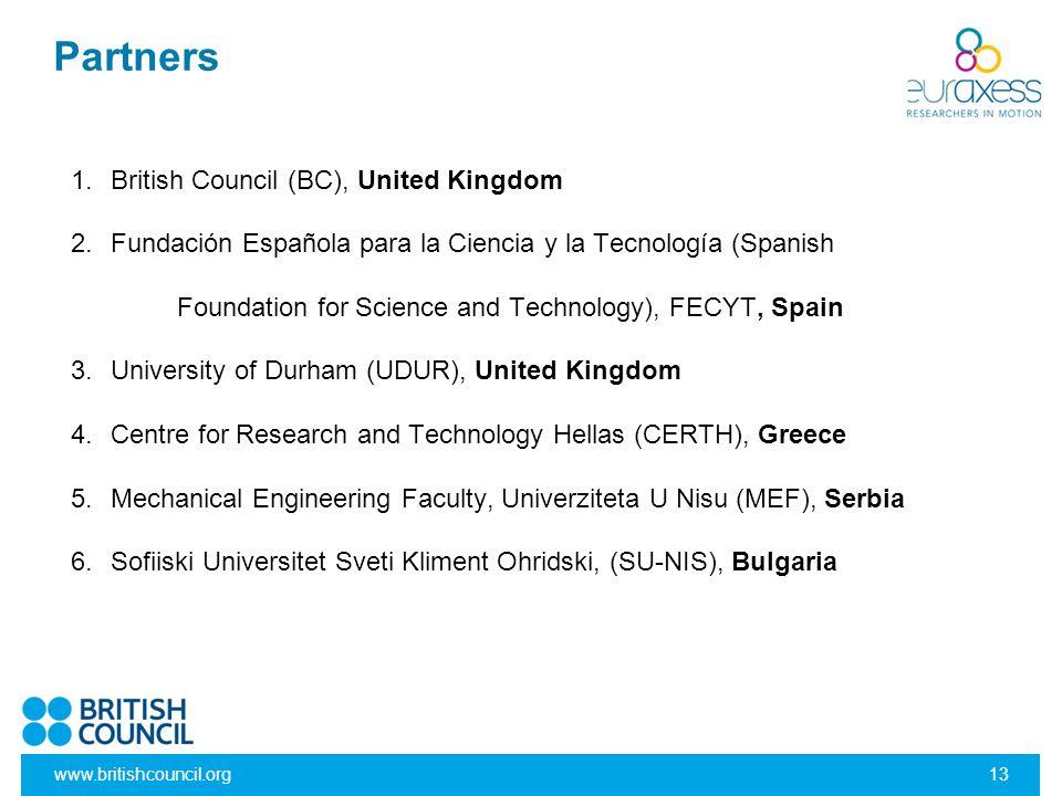 Partners British Council (BC), United Kingdom