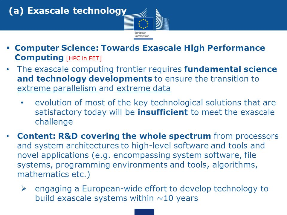 (a) Exascale technology