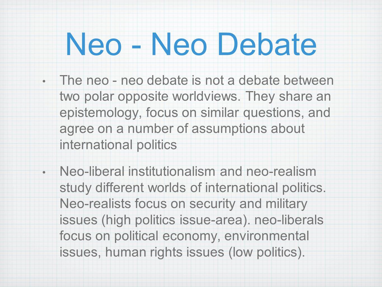 Neo - Neo Debate