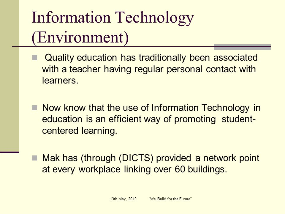 Information Technology (Environment)
