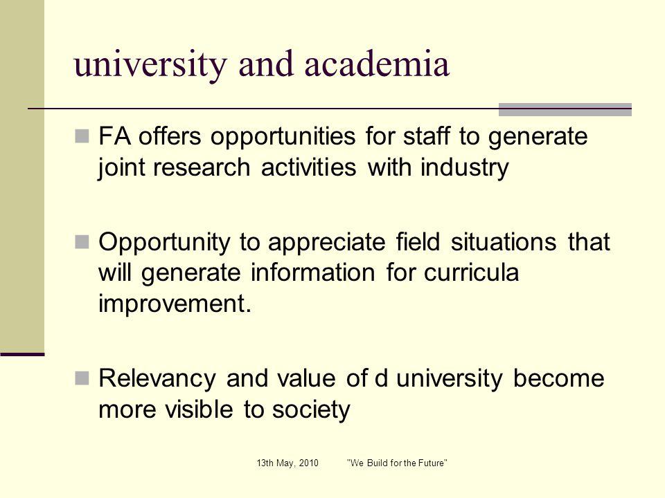 university and academia
