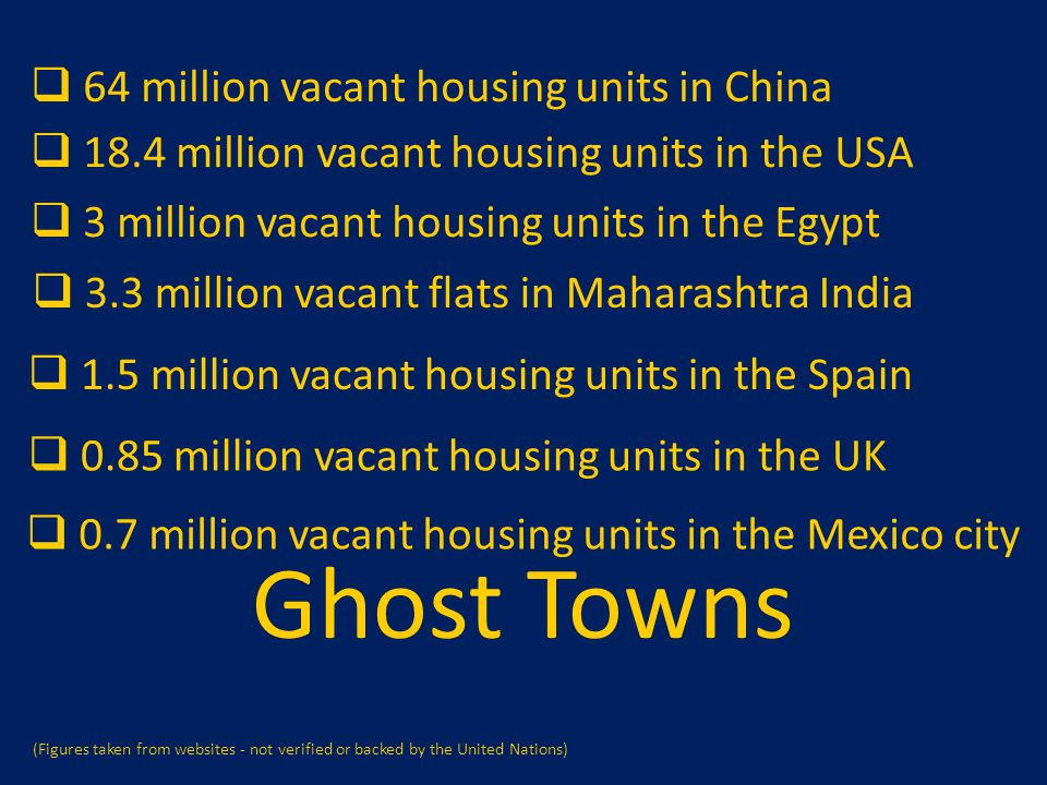 Ghost Towns 64 million vacant housing units in China